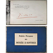 Pablo Picasso signed Book. CoA