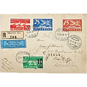 1936: Attractive Air Mail Switzerland to Romania
