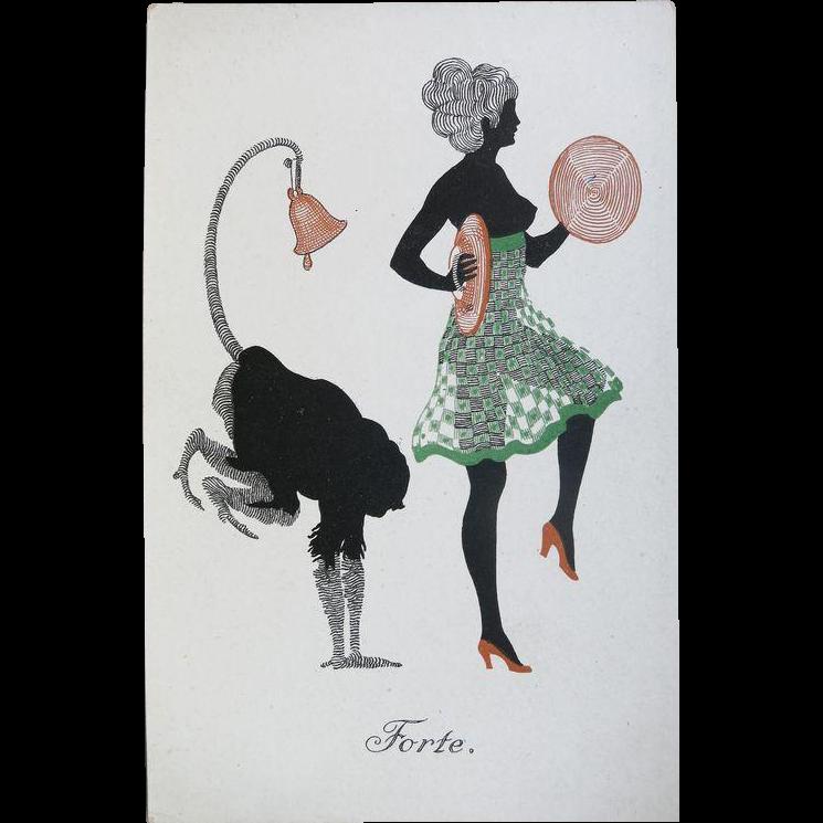 Set of 6 Art Deco Postcards