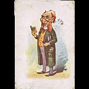 Vintage Postcard of a Rabbi. Europe 1904