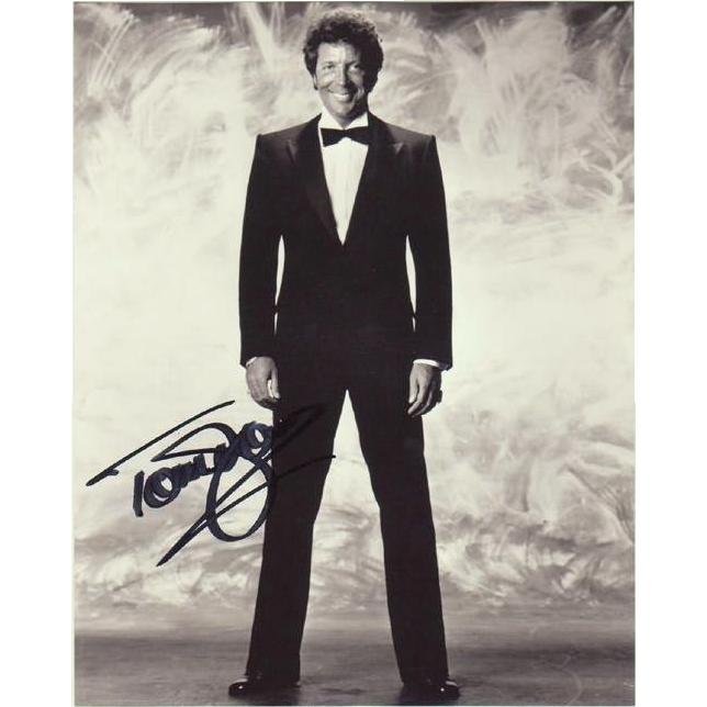 Tom Jones Autograph on large Photo. 8 x 10. CoA