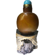 Antique Chinese Agate Snuff Bottle