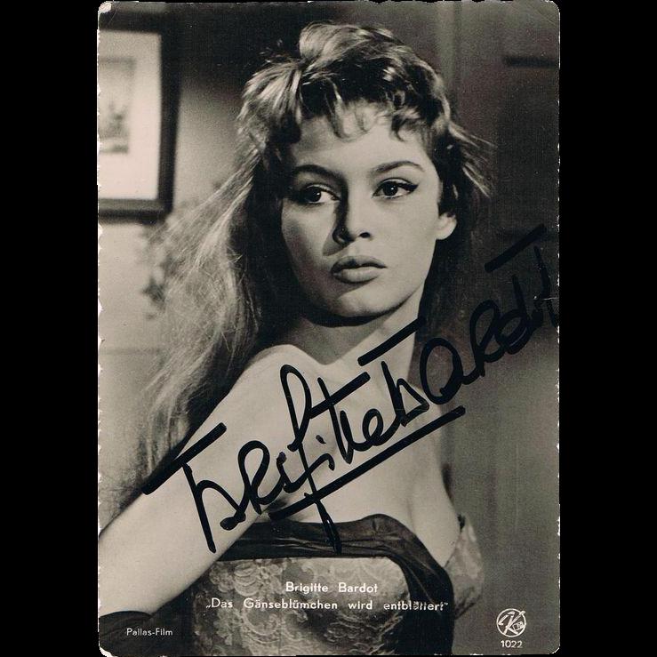 Brigitte Bardot Autograph and extra Postcard CoA