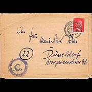Letter from Oranienburg Sachsenhausen 1944