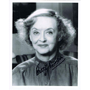 Bette Davis Autograph on 8 x 10 Photo CoA