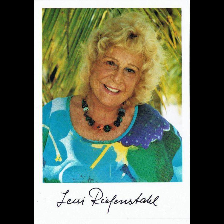 Leni Riefenstahl Autograph on Color Print CoA