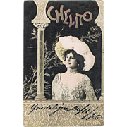 Chelito. Art Nouveau Postcard from 1906