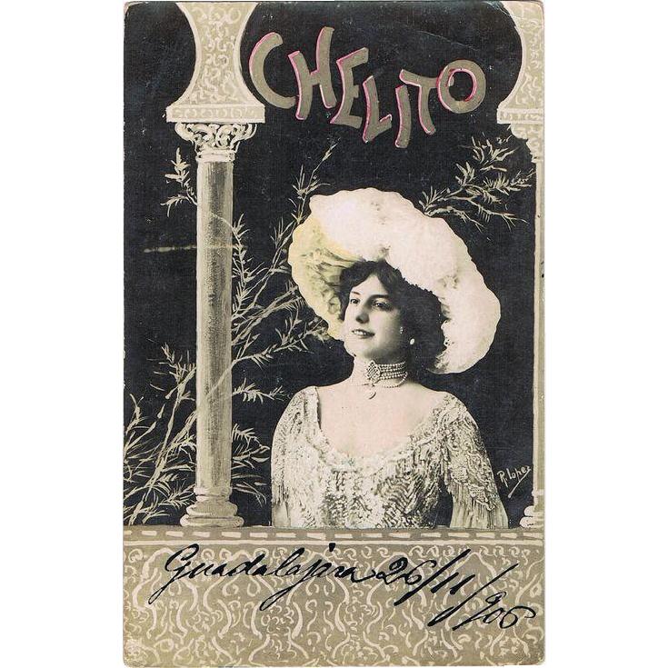 Chelito. Art Nouveau Postcard from 1906