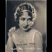 Doris Eaton Travis Autograph Ziegfeld Follies CoA
