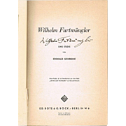 Wilhelm Furtwängler Autograph. Signed Booklet. CoA