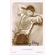 Anna May Wong Autograph on Postcard CoA Silent Movie Star