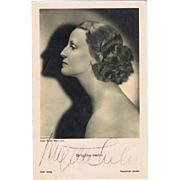 Brigitte Helm Autograph unforgettable Actress in Fritz Lang Film Metropolis