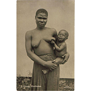 Attractive Photo Postcard African Lady with Happy Baby