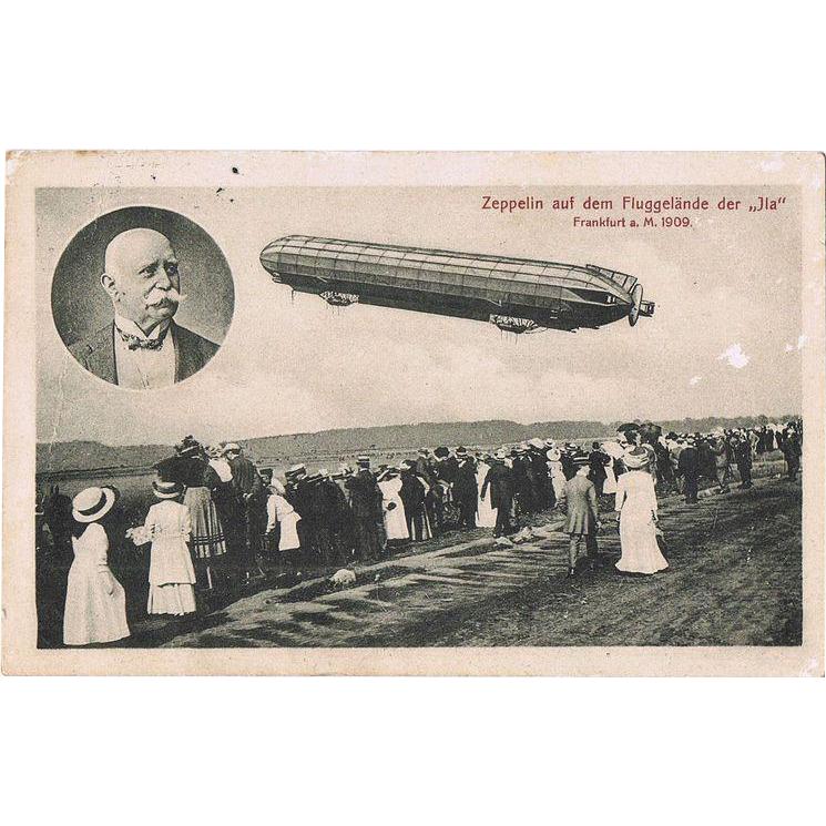 Airship Zeppelin in Jia Frankfurt 1909