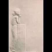 Raphael Kirchner Postcard Lady standing 1901