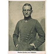 Manfred Freiherr von Richthofen. Vintage Postcard depicting this famous pilot in Uniform.