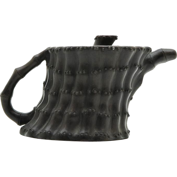 Old Chinese Yi Xing Teapot in Unusual Shape.