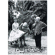 Brigitte Bardot Autograph on Photo with Pablo Picasso