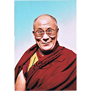 Dalai Lama Autograph CoA. Hand signed Photo of Tibetan Spiritual Head.