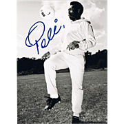 Soccer Legend Pele Autograph on Large Photo