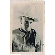 John Wayne Autograph on Early Photo CoA