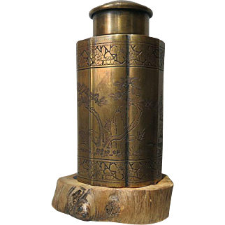 Attractive antique Chinese Pa Tong Box