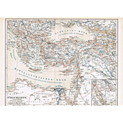 Ottoman Empire, Turkey: 3 old Maps from 1900