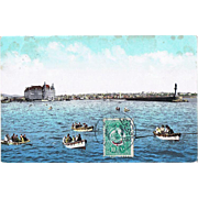 Ottoman Empire, Turkey: Vintage Postcard with View at Constantinople