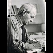 Henry Moore Autoghraph Hand-signed Photo CoA
