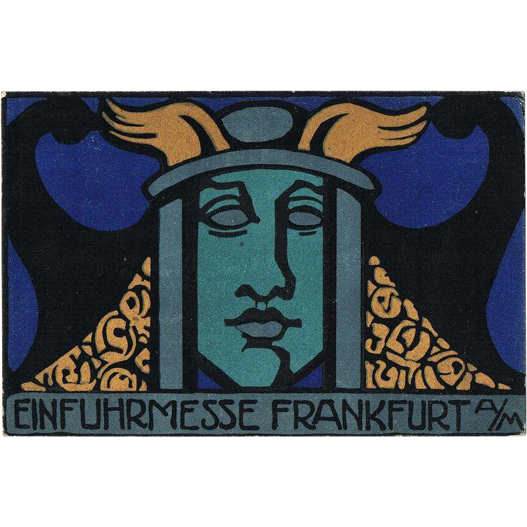 German Art Nouveau Postcard by Lina von Schauroth 1919