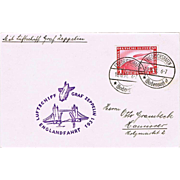 Airship Zeppelin Mail with 1 Reichsmark Stamp 1931