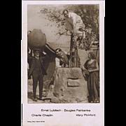 Chaplin, Fairbanks, Pickford and Lubitsch Vintage Postcard