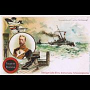 Postcard German Torpedo Boat Trading Card Coffee. Boxer Rebellion