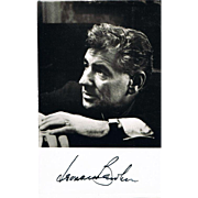 Leonard Bernstein Autograph on Photo CoA