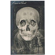 Metamorphic Postcard Scull and Pair drinking Champagne