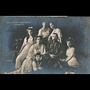 Tsar Nicholas and his Family Vintage Photo Postcard