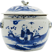 Antique Chinese Porcelain Jar with Lid