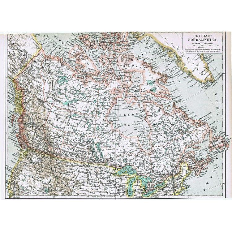 1902: Old Canada – British North America Map