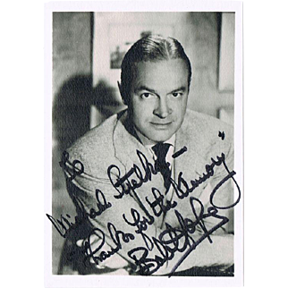 Bob Hope Autograph on Photo and Authentic Postal Cover COA