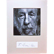 Artist Richard Hamilton Autograph CoA Pop Art