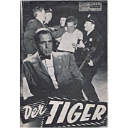 Humphrey Bogart Autograph on old Movie Program