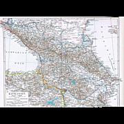 Caucasian Map Black Sea to Caspian Sea 1900