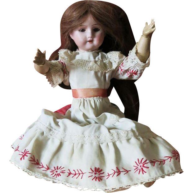 Antique Bisque Doll 1909
