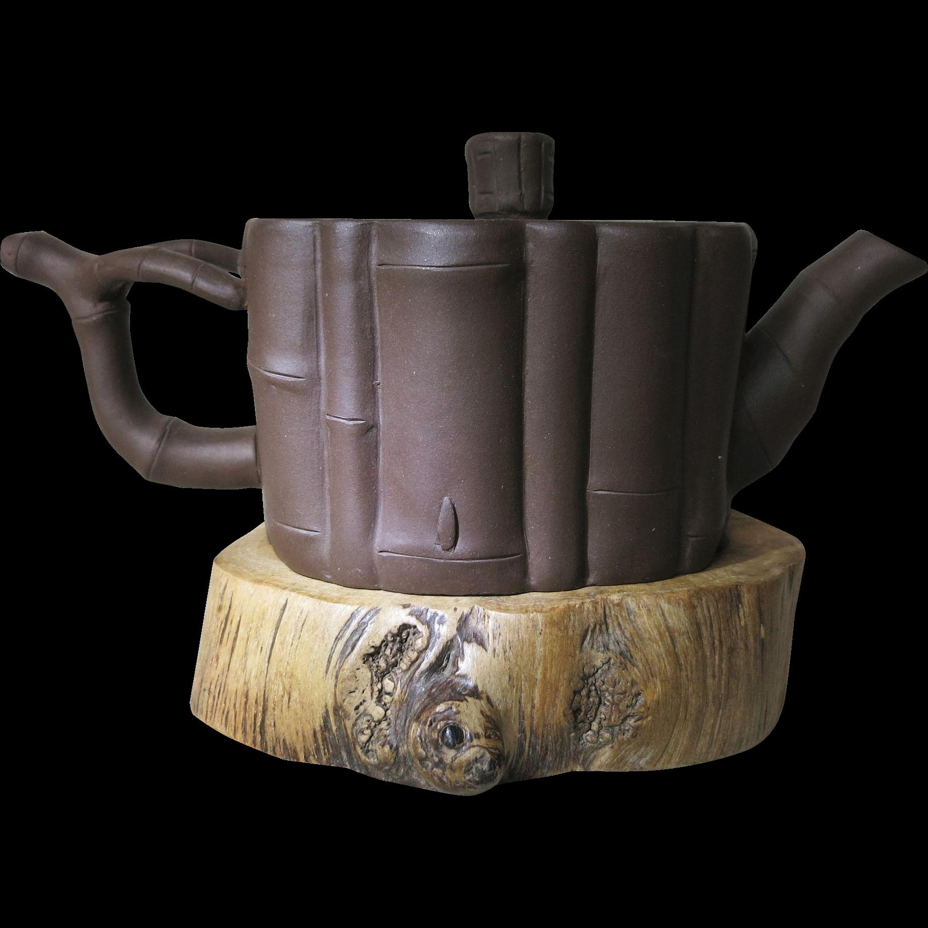 Chinese Yixing Tea Pot Bamboo Design