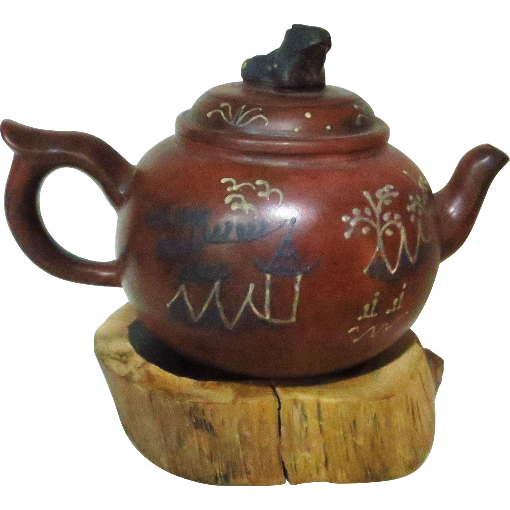 Chinese Yixing Tea Pot with Frog as Handle