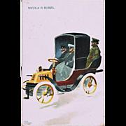 Tsar Nicholas II In an Oldtimer Vintage Postcard