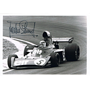 Jackie Stewart Formula One Driver Autograph on Photo COA