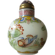 Chinese Snuff Bottle Ducks and Lotus