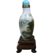 Old Chinese Snuff Bottle Porcelain with Landscape