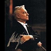 Herbert von Karajan Autograph CoA